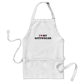 Mim coração meu avental de Rottweiler