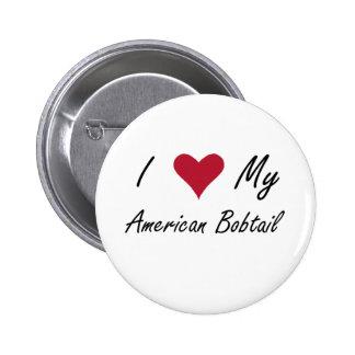 Mim coração meu Bobtail americano Boton