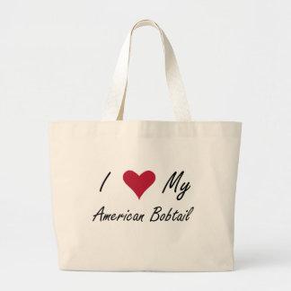 Mim coração meu Bobtail americano Sacola Tote Jumbo