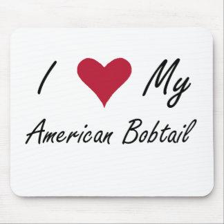 Mim coração meu Bobtail americano Mousepad
