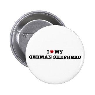 Mim coração meu botão do german shepherd bóton redondo 5.08cm
