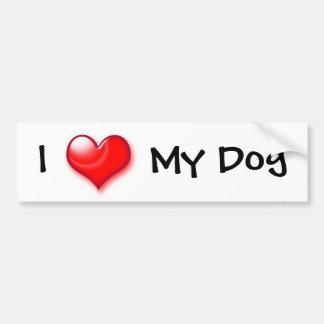 Mim coração meu cão adesivo para carro