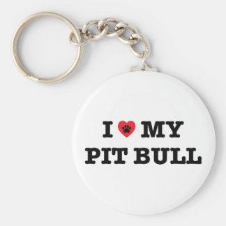Mim coração meu chaveiro do botão do pitbull