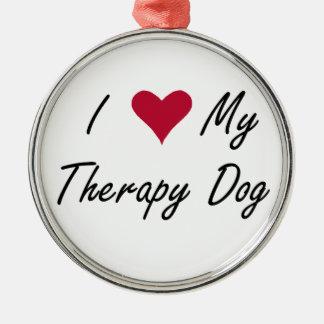 Mim coração meu ornamento do cão da terapia
