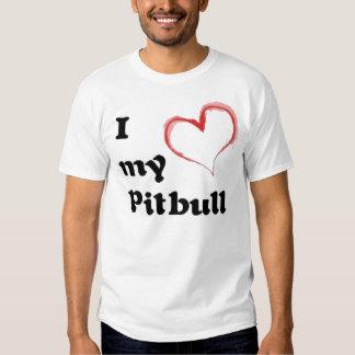 mim coração meu pitbull t-shirts