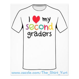 Mim coração meu segundo amor do professor dos grad flyer 11.43 x 14.22cm