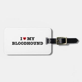 Mim coração meu Tag da bagagem do Bloodhound Tag De Mala