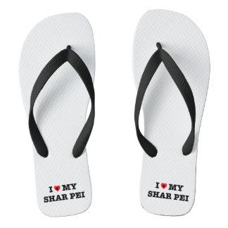 Mim coração meus chinelos de Shar Pei
