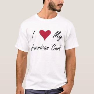 Mim coração minha camisa americana da onda