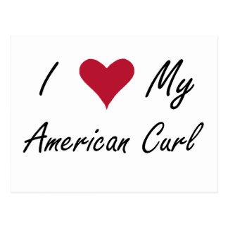 Mim coração minha onda americana cartão postal