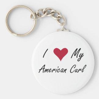 Mim coração minha onda americana chaveiro