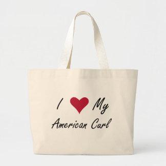Mim coração minha onda americana bolsa de lona