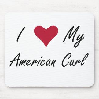 Mim coração minha onda americana mousepad