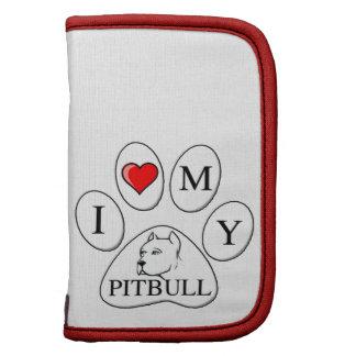 Mim coração minha pata do pitbull - cão, animal de agendas