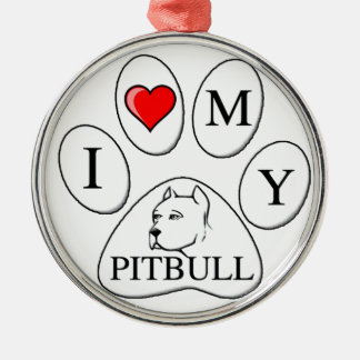 Mim coração minha pata do pitbull - cão, animal de enfeite de natal