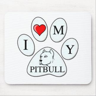 Mim coração minha pata do pitbull - cão, animal de mouse pads