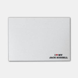 Mim coração minhas notas de post-it de Jack Bloquinhos De Notas
