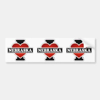 Mim coração Nebraska Adesivo Para Carro