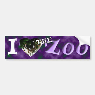 Mim (coração) o jardim zoológico (borboleta) adesivo para carro