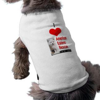 Mim (coração) salvamento Eskimo americano Camisa Sem Mangas Para Cachorro