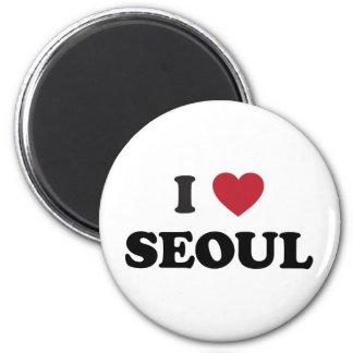 Mim coração Seoul Coreia do Sul Ímã Redondo 5.08cm