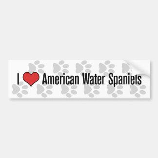 Mim (coração) Spaniels de água americana Adesivo Para Carro