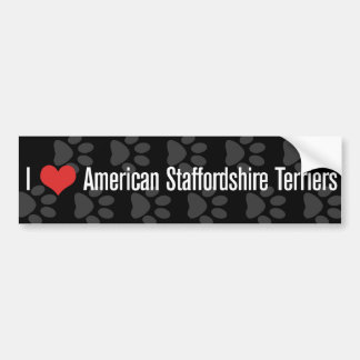 Mim (coração) terrier de Staffordshire americano Adesivo Para Carro