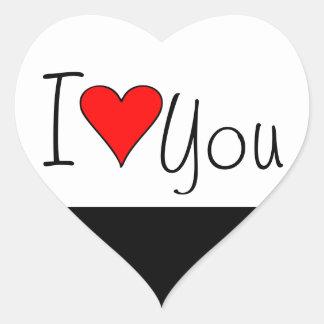 Mim coração você adesivo coração