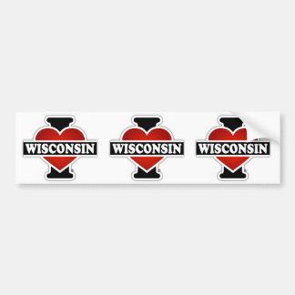 Mim coração Wisconsin Adesivo Para Carro