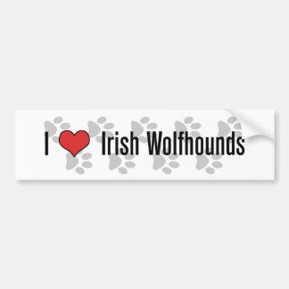 Mim (coração) Wolfhounds irlandeses Adesivo Para Carro