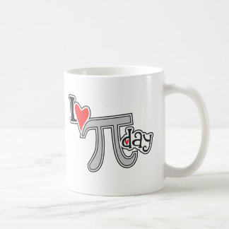 Mim dia do Pi do coração Caneca De Café