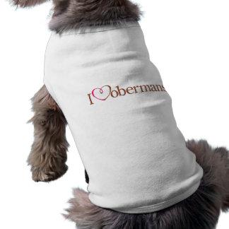 Mim Dobermans do coração Roupas Para Cães