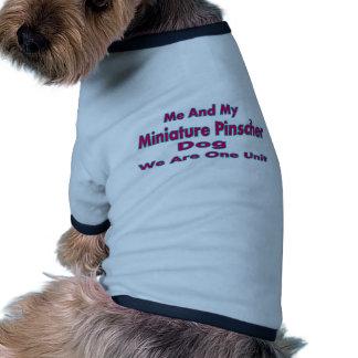 Mim e meu cão do Pinscher diminuto Camisa Ringer Para Cachorro
