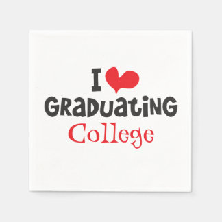 Mim faculdade de graduação do coração guardanapo de papel