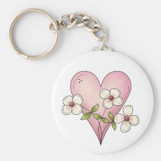 Mim flores do coração chaveiro