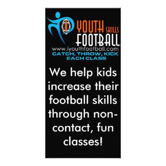 Mim futebol da juventude cartão com foto