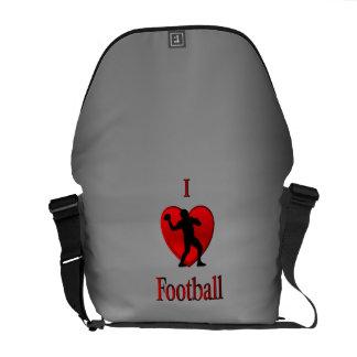 Mim futebol do coração bolsa mensageiro