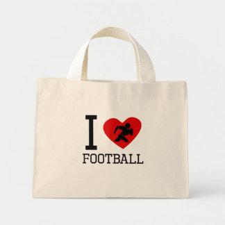 Mim futebol do coração bolsas