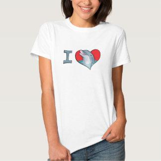 Mim golfinhos do coração camiseta
