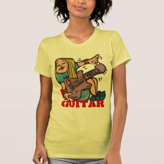 Mim guitarra - guitarra de ajustamento do t-shirt