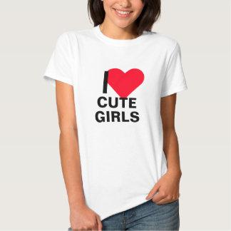 Mim meninas bonitos do coração tshirts