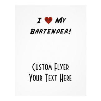 Mim ♥ meu barman modelo de panfleto