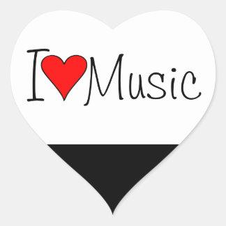 Mim música do coração adesivo coração