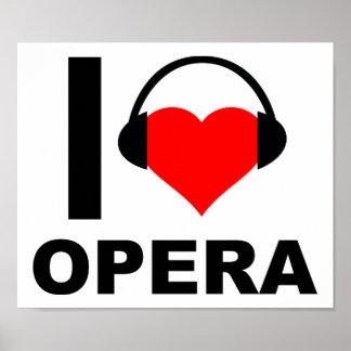 Mim poster engraçado da ópera do coração