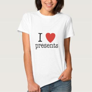 Mim presentes do coração t-shirts
