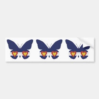 Mim produtos da borboleta da bandeira de Colorado  Adesivo Para Carro