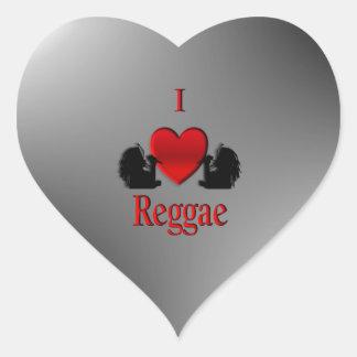 Mim reggae do coração adesivo coração