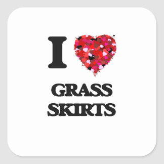 Mim saias de grama do amor adesivo quadrado