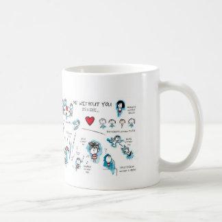Mim sem você - namorados - amor caneca de café