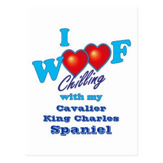 Mim Spaniel de rei descuidado Charles do Woof Cartão Postal